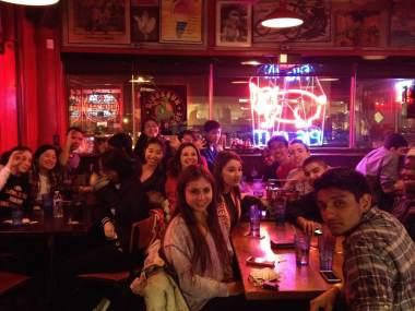 Team dinner at Dino BBQ