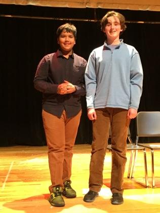Rahul and Patrick pose at the end