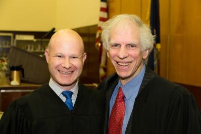 Judge Alexander Tisch (Class of 1989) and Justice Engoron