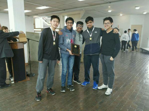 Brandon, Sahil, Antony, Vedant and Trenton earned 4th Place Team
