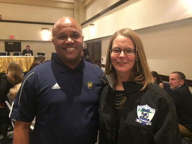 Hall of Famers Steve Cadet and Traci Maier