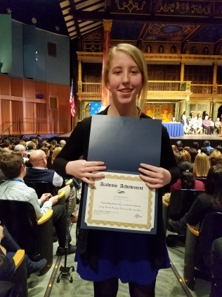 Allison earned special recognition