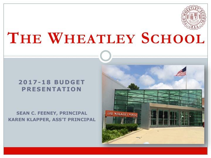 Wheatley Budget Presentation_Mar17