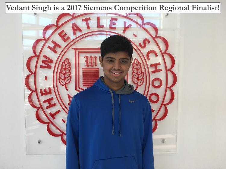 Vedant is Siemens Regional Finalist