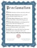 Robert Bernstein Proclamation