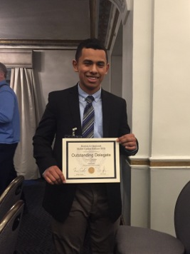Kevin Contreras, Outstanding Delegate