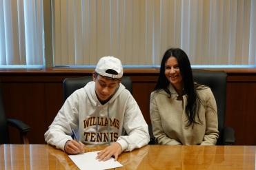 Michael signing