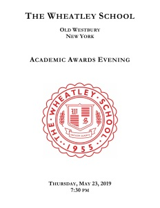 Academic Awards Cover 2019